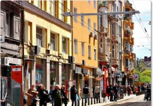 Shopping street in Sofia